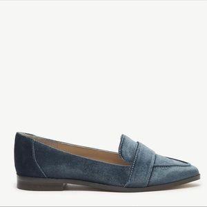 Sole Society Velvet Flat Loafers